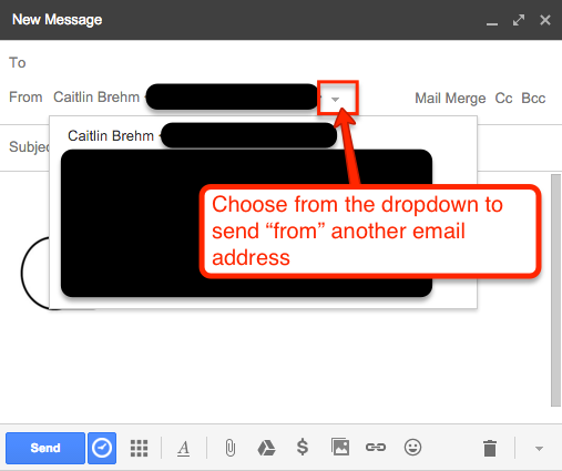 switch between email addresses in gmail