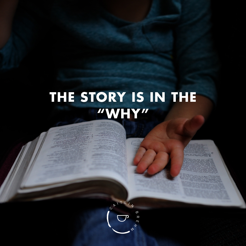 "The story is in the ""Why"""